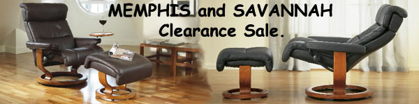 Stressless Memphis and Savannah Recliner Sale