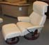Stressless Dream Recliner and Ottoman - Paloma Kitt Leather