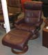Stressless Memphis Medium Recliner and Ottoman - Royalin Amarone Leather by Ekornes