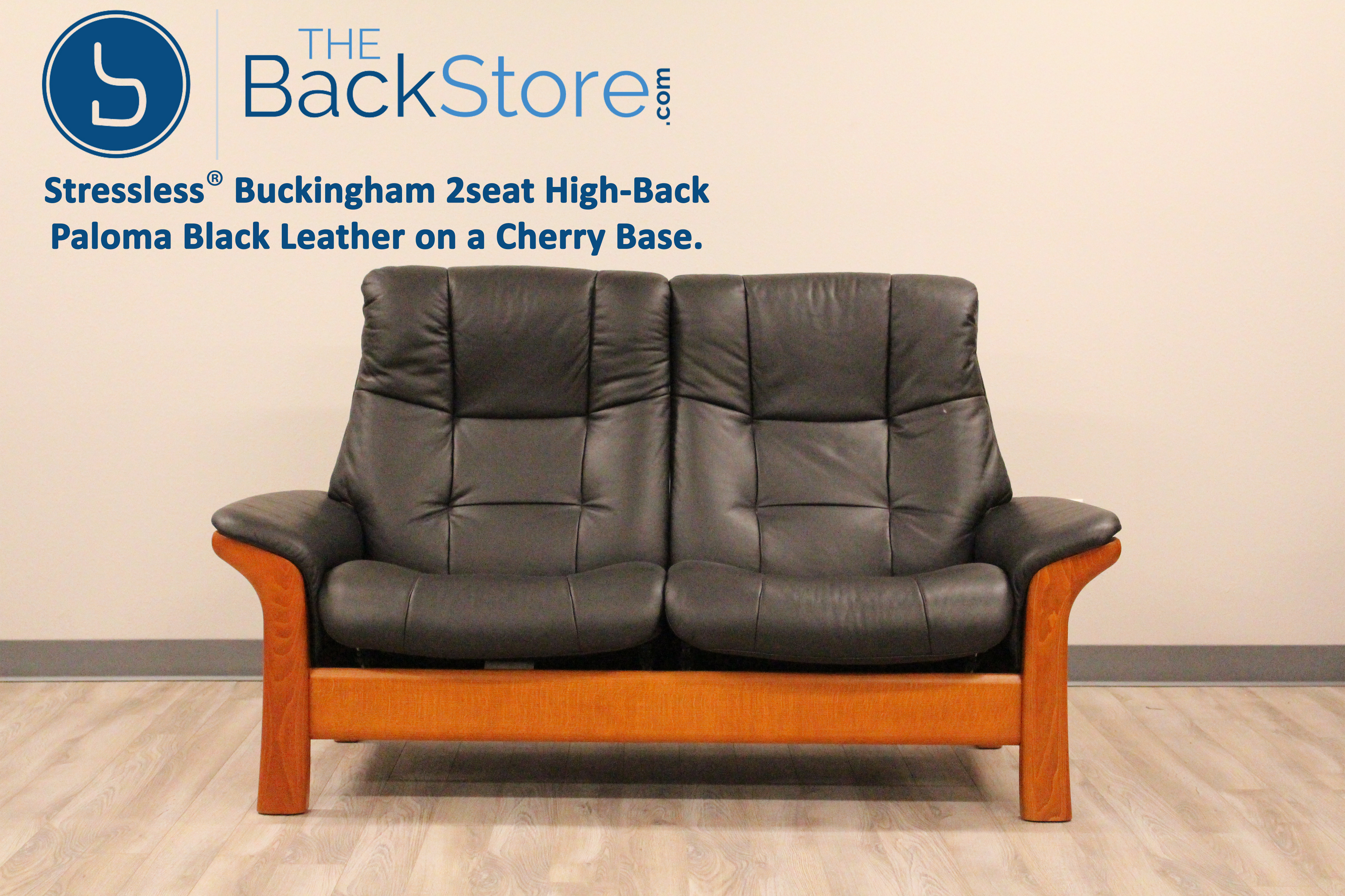 Stressless buckingham 2 seat loveseat high back sofa for Paloma leather sofa