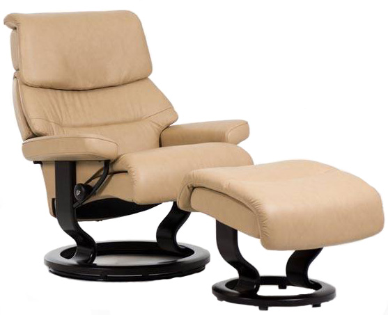 Stressless Capri Classic Base Recliner Chair And Ottoman