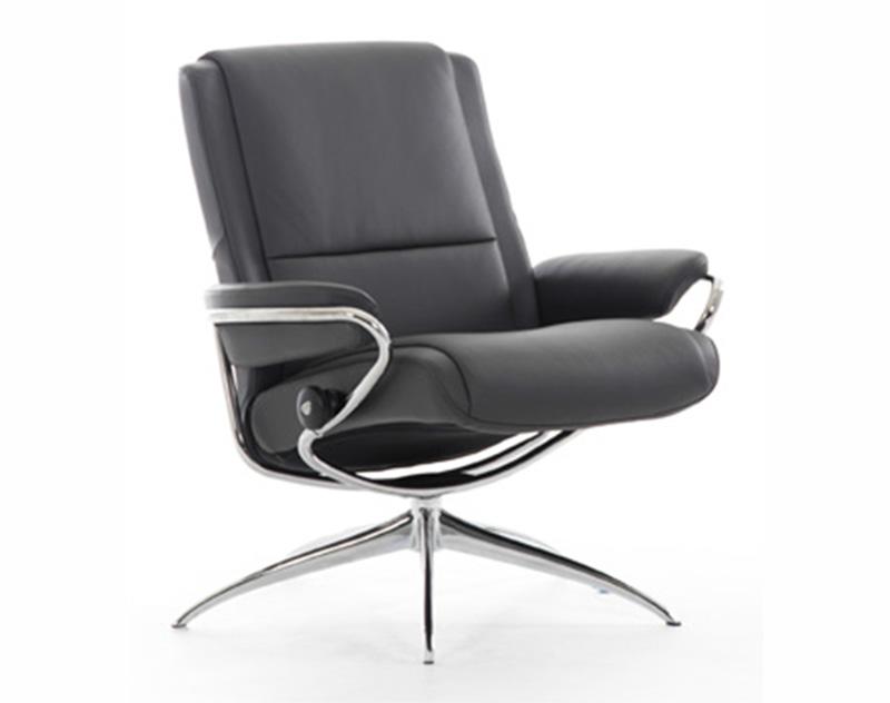 ekornes stressless paris low back leather office desk chair recliner paris chair lounger. Black Bedroom Furniture Sets. Home Design Ideas