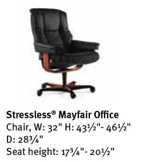 Stressless Mayfair Office Desk Chair Dimensions