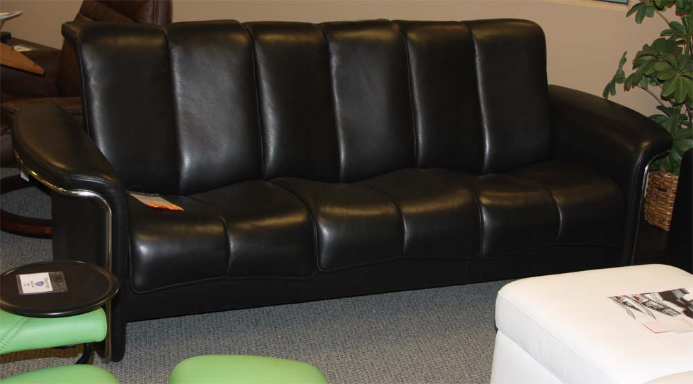 Ekornes stressless soul low back sofa loveseat chair and for Sectional sofa low back