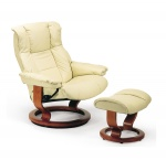 Ekornes Stressless Mayfair Leather Recliner And Ottoman Mayfair Chair Loung