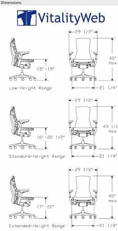 Herman Miller Embody Home Office Chair Dimensions