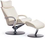 Fjords Ono Ergonomic Recliner Chair and Ottoman by Hjellegjerde. Scandinavian Norwegian
