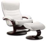 Fjords Trandal Ergonomic Recliner Chair and Ottoman by Hjellegjerde. Scandinavian Norwegian