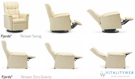 Ergonomic Swing Zero Gravity Relaxor Recliner Chair by Fjords Hjellegjerde