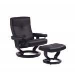 Stressless Medium Alpha Recliner with Ottoman by Ekornes