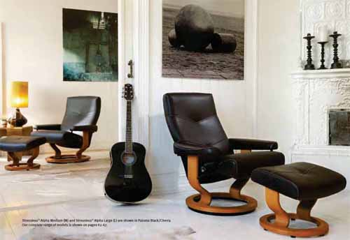 Stressless Relciner Chairs by Ekornes Alpha