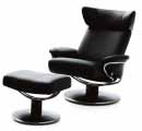 Ekornes Stressless Recliner and Ottoman