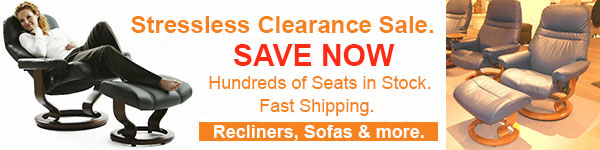Stressless Showroom Sale on Recliners, Chairs and Sofas