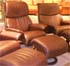 Stressless Dream Recliner Chair and Ottoman - Royalin Amarone Leather