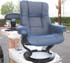 Stressless Chelsea Small Mayfair Recliner and Ottoman