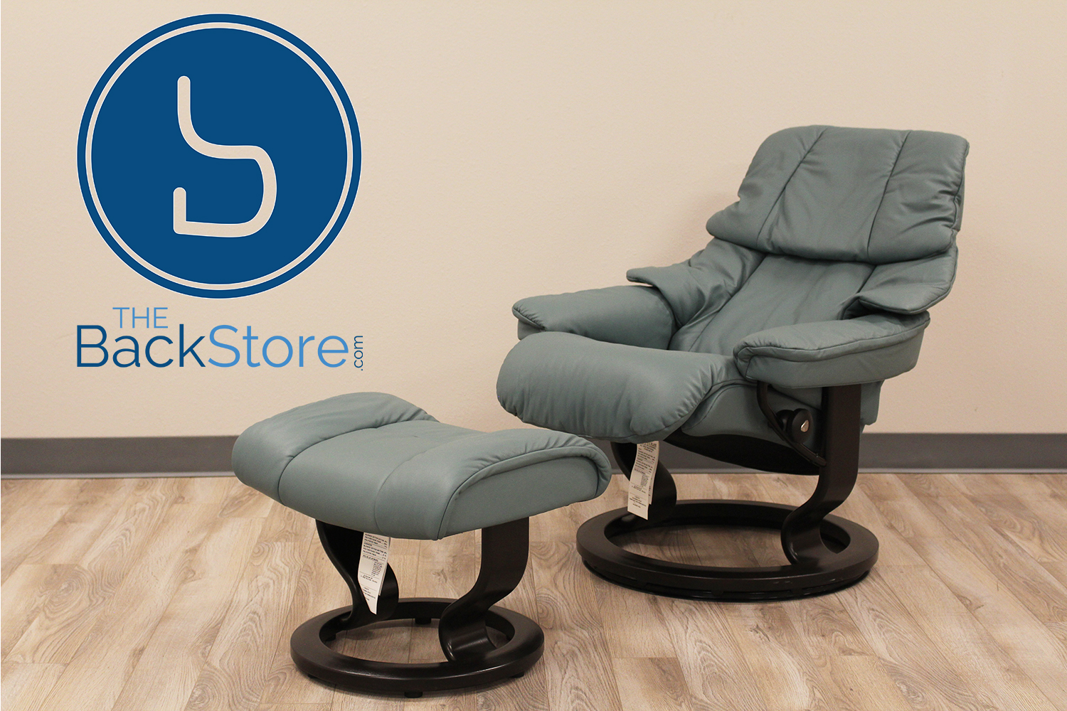 Prime Stressless Tampa Small Reno Paloma Aquagreen Leather Recliner Chair And Ottoman By Ekornes Bralicious Painted Fabric Chair Ideas Braliciousco