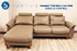 Stressless E300 3 Seat Sofa with LongSeat in Cori Khaki Leather