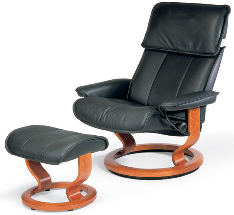 Leather Recliner Chair And Ottoman