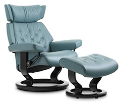 Stressless Skyline Classic Recliner Chair and Ottoman