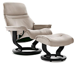 Stressless Sunrise Classic Recliner Chair and Ottoman