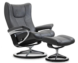 Stressless Wing Signature Base Recliner Chair and Ottoman  sc 1 st  BACKSTORE.COM & Stressless Wing Signature Base Recliner Chair and Ottoman by ... islam-shia.org