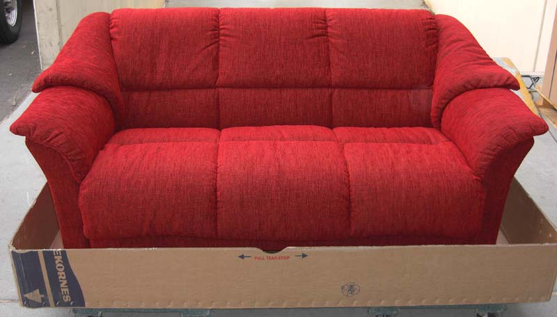 Stressless Oslo Red Fabric Sofa Couch Loveseat And Chair By Ekornes