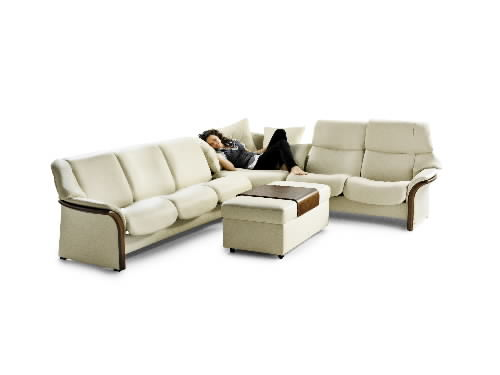 Stressless Granada High Back Leather Sofa Ergonomic Couch By Ekornes