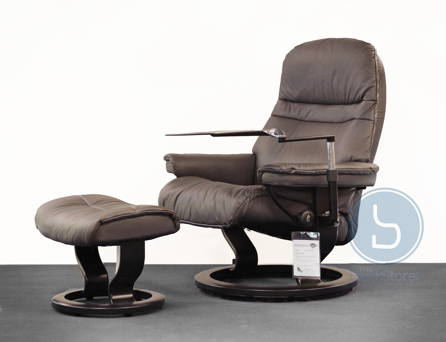 Stressless Sunrise Paloma Rock Leather Recliner Chair by Ekornes