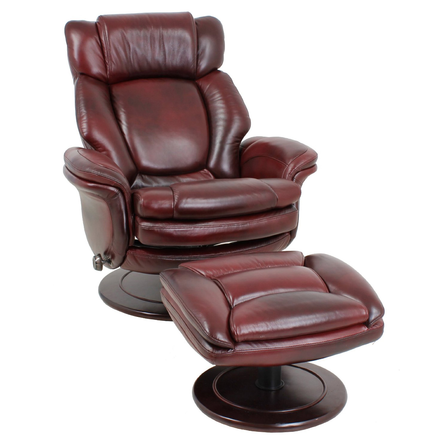 barcalounger lumina ii recliner chair and ottoman leather recliner rh backstore com