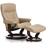 Stressless President Recliner Chairs and Ottoman