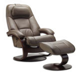 Admiral Recliner Chair and Ottoman by Fjords Furniture