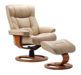 Manjana Recliner Chair and Ottoman by Fjords Furniture