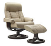 Muldal Recliner Chair and Ottoman by Fjords Furniture