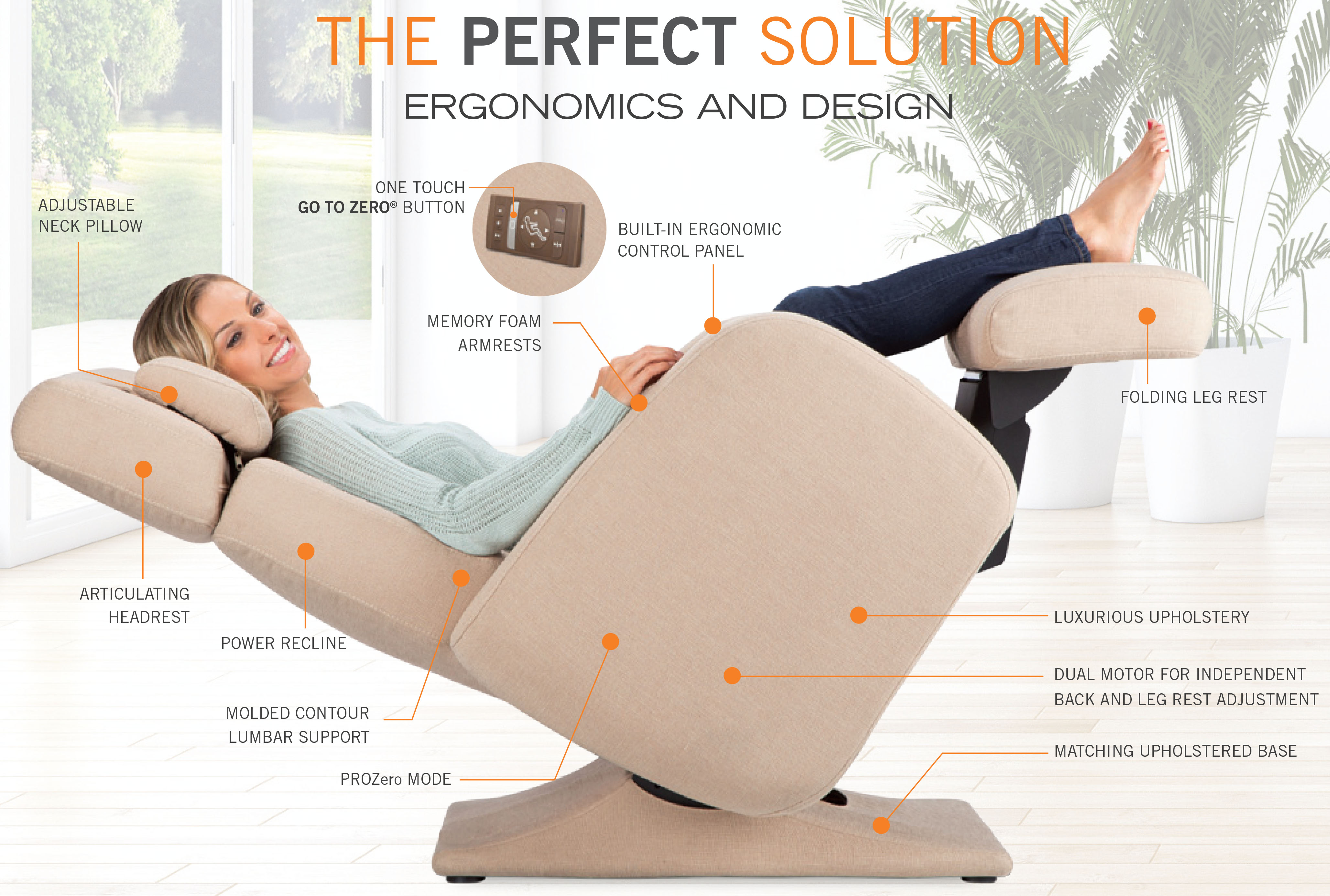 Sensational Pc 8500 Zero Gravity Electric Power Recline Perfect Chair Recliner By Human Touch Gamerscity Chair Design For Home Gamerscityorg