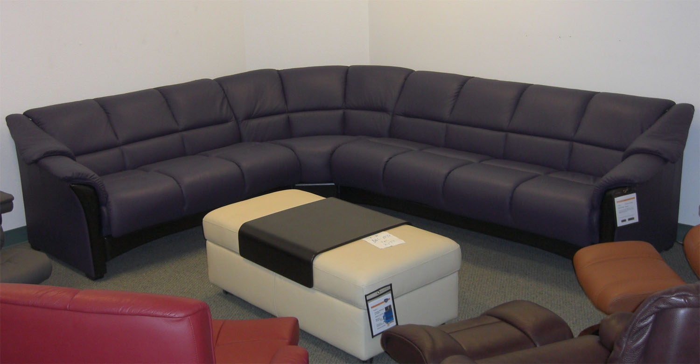 Ekornes Oslo Paloma Leather Sofa Sectional