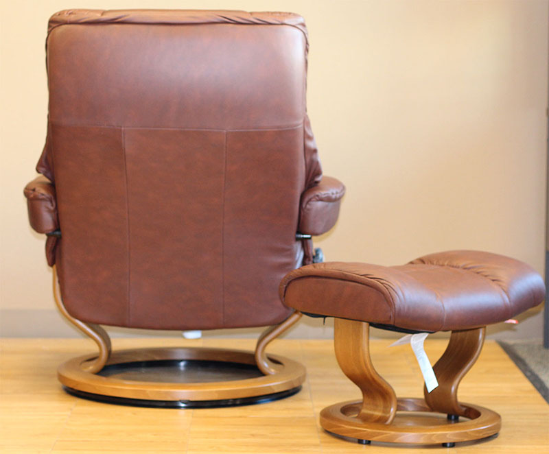 Back of the Stressless Kensington Paloma Cognac 09441 Leather Recliner Chair