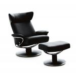 Stressless Jazz Medium Recliner Chair and Ottoman by Ekornes