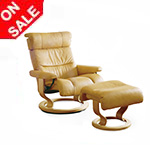 Stressless Savannah Recliner Chair and Ottoman by Ekornes Furniture
