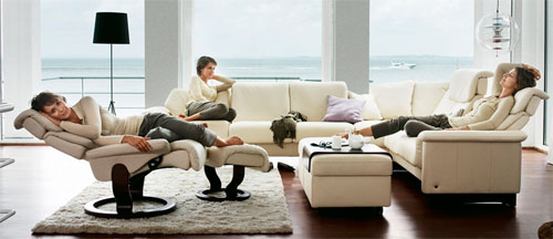 Stressless Lounge Sofa And Stressless Recliner Sofa Chair