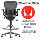 Herman Miller Aluminum Aeron chair for the Home.  Herman Miller Embody, Mirra, Celle, Eames Chairs and Eames Lounge Chair Seating.