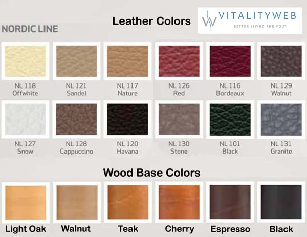 Fjords Nordic Line Genuine Leather Colors