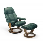 Stressless Consul Recliner Chairs and Ottoman