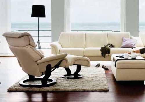 Stressless Spirit Leather Ergonomic Recliner Chairs by Ekornes