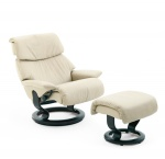 Stressless Vision Recliner chair and Ottoman by Ekornes